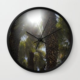 Palm Trees Perspective Wall Clock