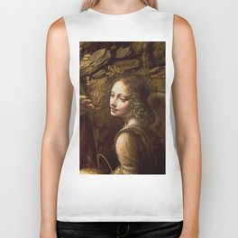 "Leonardo da Vinci ""The Virgin of the Rocks (London)"" Angel Biker Tank"