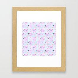 Jigglypuff pattern Framed Art Print
