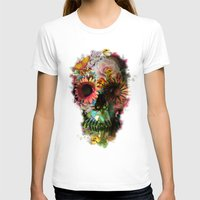 water color T-shirts featuring SKULL 2 by Ali GULEC