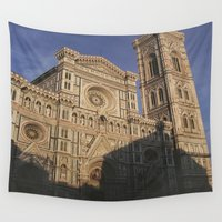 florence Wall Tapestries featuring Florence Italy  by Siobhan N Malone
