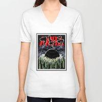 akira V-neck T-shirts featuring akira by tama-durden
