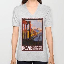Vintage Rome Italy Travel Unisex V-Neck