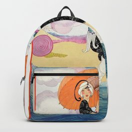 Vintage Magazine Cover - Windy Beach Backpack