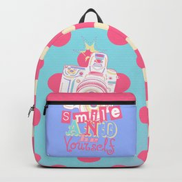Smile and be Yourself - Pastel Camera Backpack