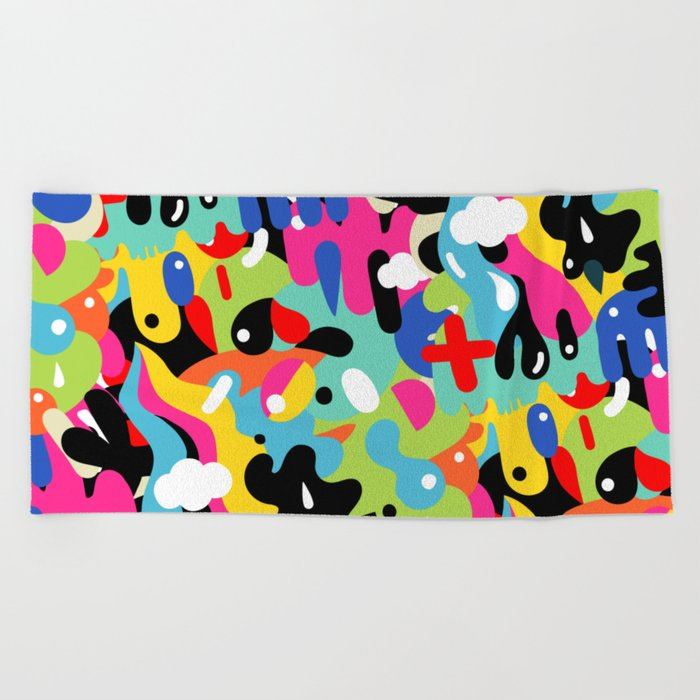 Color blobs Beach Towel