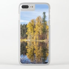 Autumn Makes an Appearance at Fish Lake Clear iPhone Case
