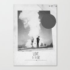 Love Is To Die | Collage Canvas Print