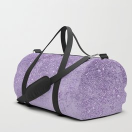 Modern elegant lavender lilac glitter marble Duffle Bag