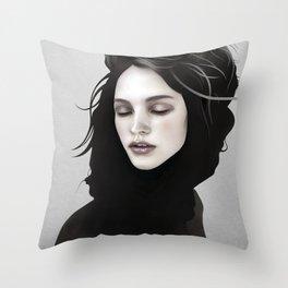 Elsewhere Girl Throw Pillow