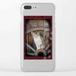 Rustic Ruby Clear iPhone Case