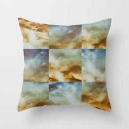 Nimbostratus Clouds Throw Pillow