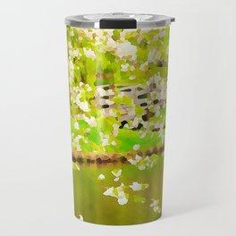 Swan lake painted Travel Mug