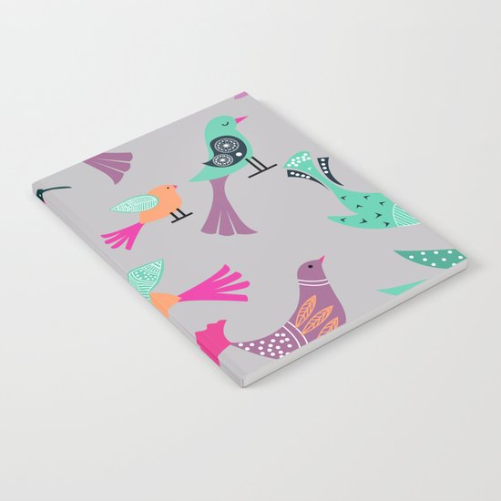 Birds Pattern #society6 #decor #buyart #illustration Notebook