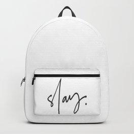 Slay (white) Backpack