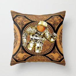 Reaching The Stars, Nasa Astronaut on Space Throw Pillow