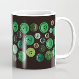Green Buttons Scanograph Coffee Mug