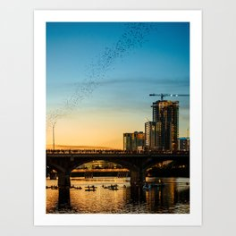 Congress Avenue Bridge Bat Watching Art Print