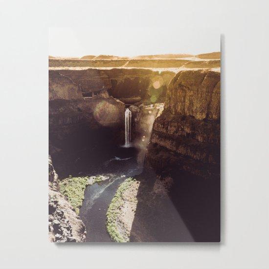 Desert Waterfall Metal Print