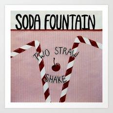 Soda Fountain Art Print