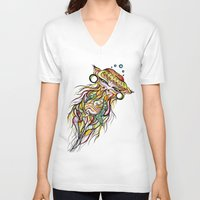 jelly fish V-neck T-shirts featuring Jelly Fish by Minimynimo
