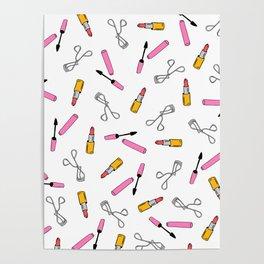 Pretty Makeup Pattern Poster