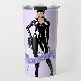 Fight Like a Girl: Catwoman Travel Mug