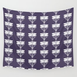 Meteorite Purple Arts and Crafts Dragonflies Wall Tapestry