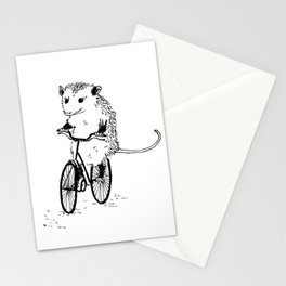 Opossums bike, too Stationery Cards