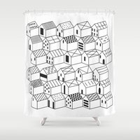 architect Shower Curtains featuring Architect and Little Houses by lllg