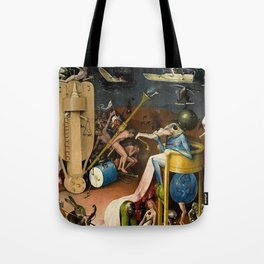 The Garden of Earthly Delights Bosch Hell Bird Man Tote Bag