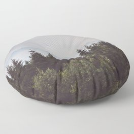Mountain Range - Landscape Photography Floor Pillow