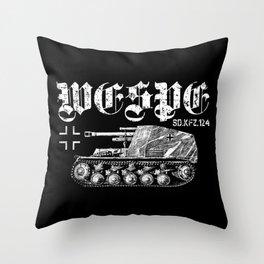 Wespe Throw Pillow