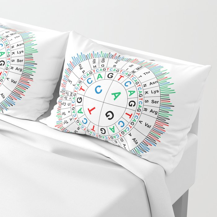 Sanger Codon Circle Pillow Sham