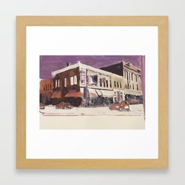 Downtown Stillwater Framed Art Print