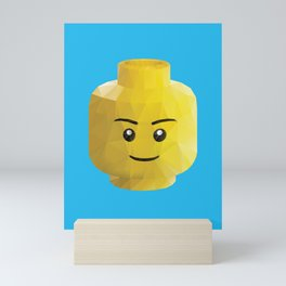 Yellow Legohead Polygon Art Mini Art Print