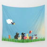 What's going on the farm? Kids collection Wall Tapestry