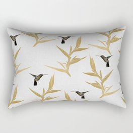 Hummingbird & Flower II Rectangular Pillow