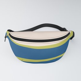 Organic Shapes in Blue and Lime Fanny Pack