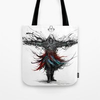 assassins creed Tote Bags featuring assassins creed by ururuty