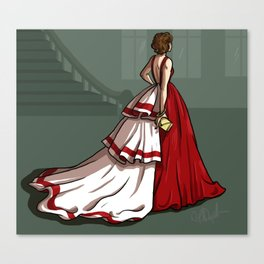 Red Gown Canvas Print