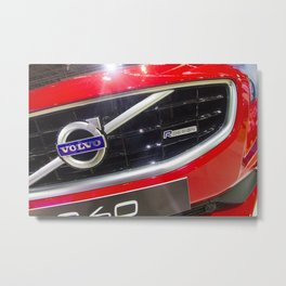 Volvo S60 T6 R-Design Logo Metal Print
