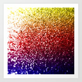 Rainbow Glitter Graphic Art Print
