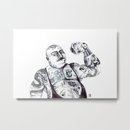 Strong man with tattoos Metal Print