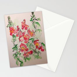 Blind Contour Snapdragon Stationery Cards
