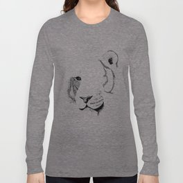 Amur Tiger - Can You See How Much Is Left? Long Sleeve T-shirt