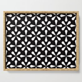 Geometric Pattern 128 (Asterisks) Serving Tray