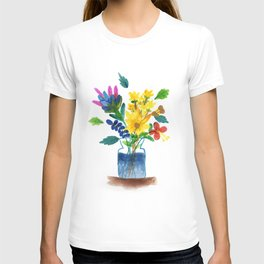 Bunch of flowers in the glass pot T-shirt