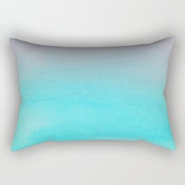 Ombre watercolor turquoise Rectangular Pillow