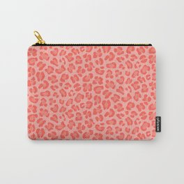 Leopard - Living Coral Carry-All Pouch